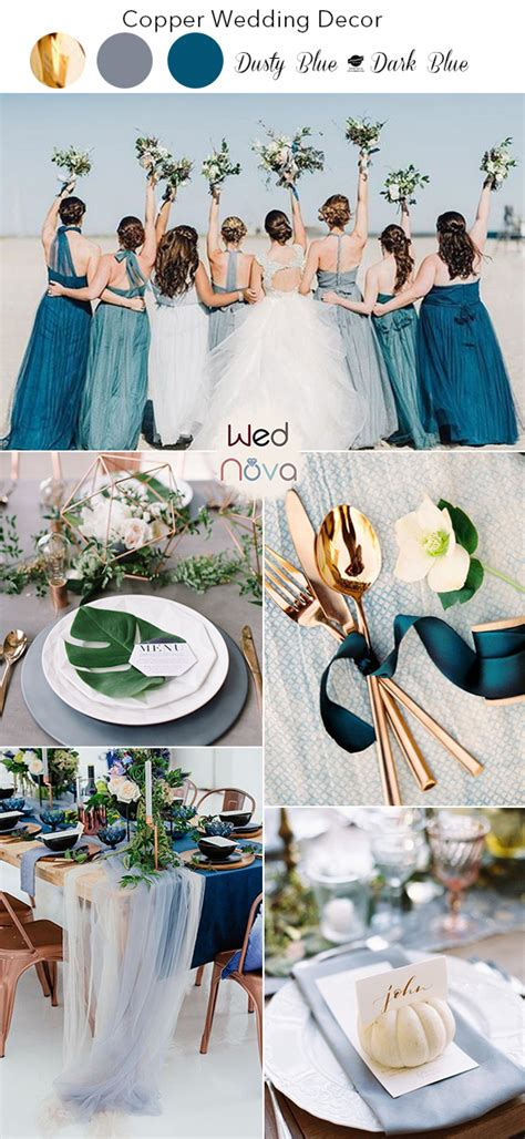 copper wedding color schemes  good theyll give