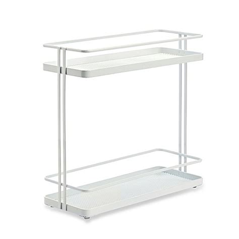 bed bath and beyond cabinet organizer org 2 tier cabinet organizer in white bed bath beyond