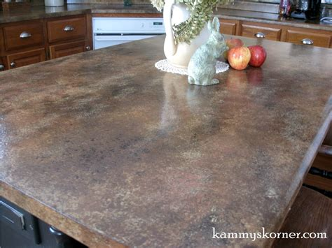 Painted Faux Granite Counter Tops {with