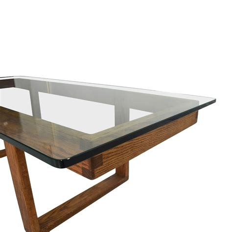 antique glass table ls 60 off unknown brand antique glass coffee table tables