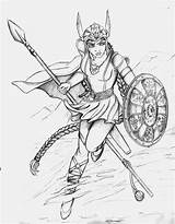Deviantart Valkyrie Coloring Norse Flight Valkyries Pages Adult Line Mythology Viking Warrior Female Drawings Gods Odin Goddess Colouring Mythological Goddesses sketch template