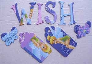 disney tinkerbell alphabet chipboard letters ebay With tinkerbell letters