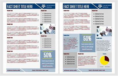 Fact Sheet Sheets Science Sided Templates Double