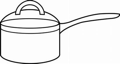 Pot Cooking Clipart Coloring Pots Saucepan Clip