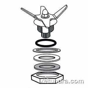 Waring 032483 64 Oz Stainless Steel Jar Blade Assembly Kit