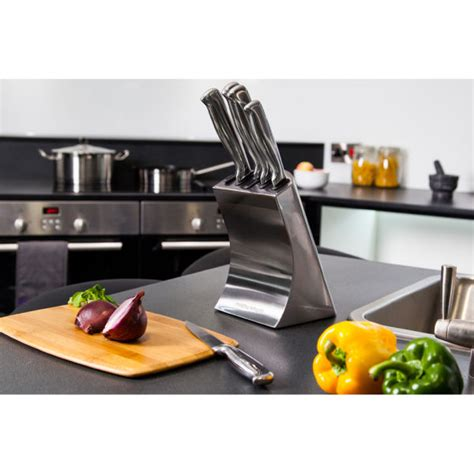 stainless steel accessories for kitchen morphy richards 46295 accents 5 knife block set 8226