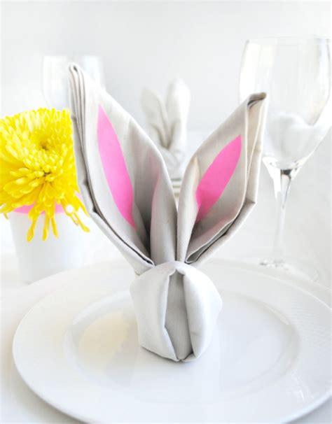 servietten falten hase origami hase falten anleitung und inspirierende osterdeko ideen