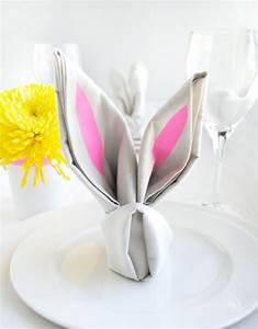 Basteln Mit Servietten : origami hase falten anleitung und inspirierende osterdeko ideen ~ Buech-reservation.com Haus und Dekorationen