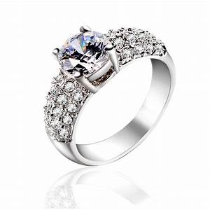 two 2 carats real 925 sterling silver eternal luxury With sterling silver wedding rings with real diamonds