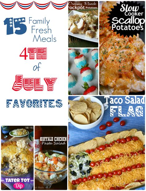 easy 4th of july recipes easy fourth of july recipes family fresh meals