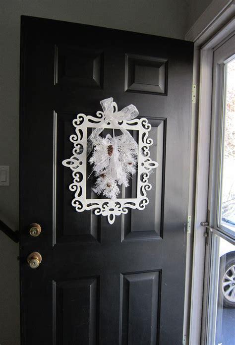 Door Decoration - winter door decor