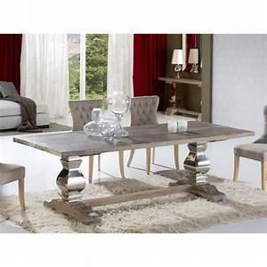 Table Design De Salle A Manger En Bois Ancien Massif