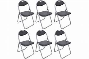 Lot De Chaises Design Pas Cher : lot de 6 chaises pliantes noires ipag chaise design pas cher ~ Melissatoandfro.com Idées de Décoration
