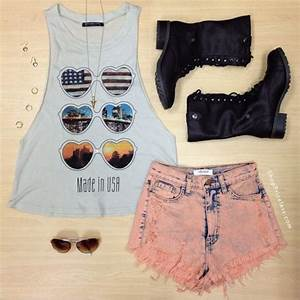 shirt, hippie, hipster, summer, summer outfits, shorts ...