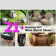 21+ Amazing Diy Wine Barrel Ideas