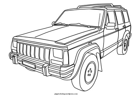 jeep coloring page pippis coloring pages