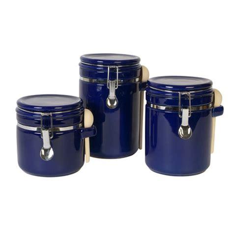 walmart kitchen canisters sensations ii 3 canister set cobalt kitchen