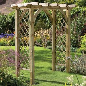 Forest Ultima Pergola Arch - GardenSite co uk