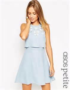 asos robe de mariage asos asos embellished crop top skater dress at asos