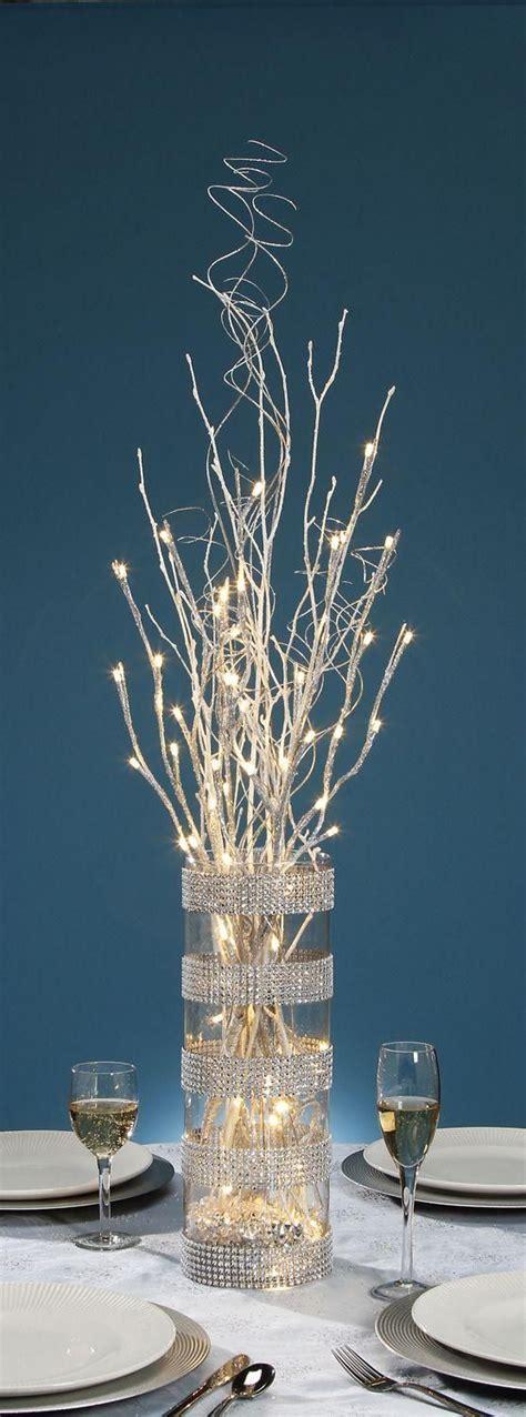lighted branch centerpiece baby shower pinterest