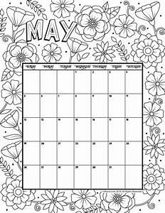 May 2019 Coloring Calendar