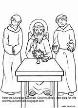 Coloring St Benedict July Parts sketch template