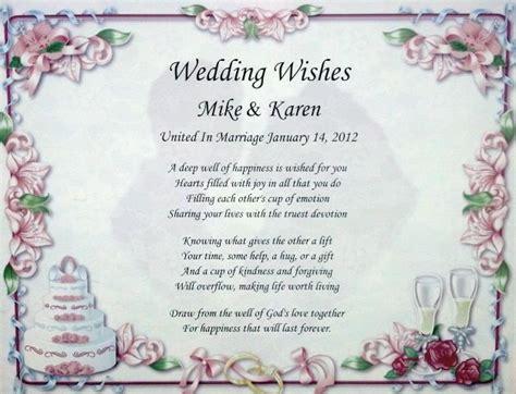 Wedding Wishes Poem Lovely Gift For Bride & Groom