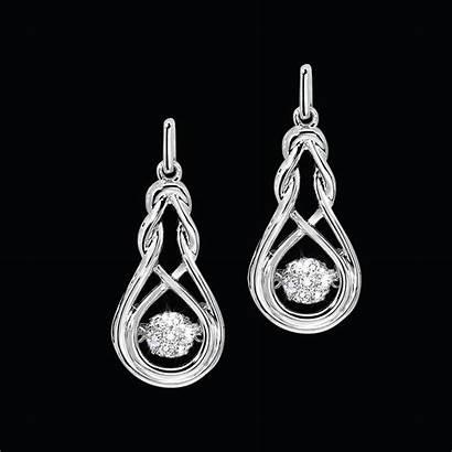 Earrings Knot Rhythm Silver Diamond Jewelers Smith