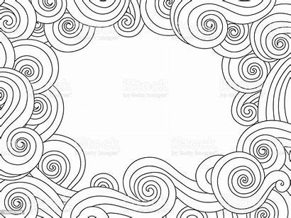 Border Outline Frame Background Wave Abstract Sea
