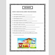 Ma Maison, House Vocabulary In French, Writing And Speaking Activity  French Vocabulary