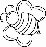 Bee Bumble Coloring Pages Bees Bumblebee Queen Cute Fat Drawing Template Clipart Print Printable Bumblebees Cliparts Clip Honey Templates Find sketch template