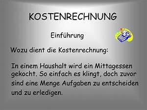 Kosten Rechnung : ppt kostenrechnung powerpoint presentation id 4680822 ~ Themetempest.com Abrechnung