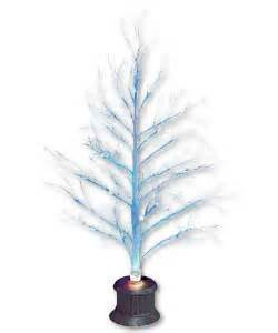 4ft Christmas Tree Fibre Optic by 4ft Indoor Outdoor Twig Tree Blue Led Christmas Tree