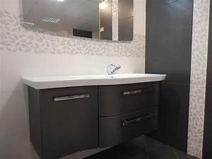 emejing salle de bain sol gris fonce 2 ideas With salle de bain gris anthracite et beige