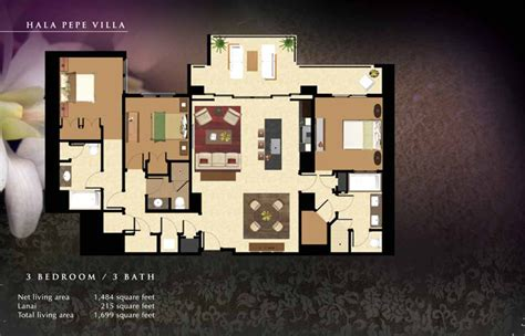 beach villas  ko olina floor plans munro murdock