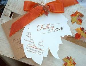 Unique fall wedding invitation ideas weddingpluspluscom for Handmade fall wedding invitations ideas