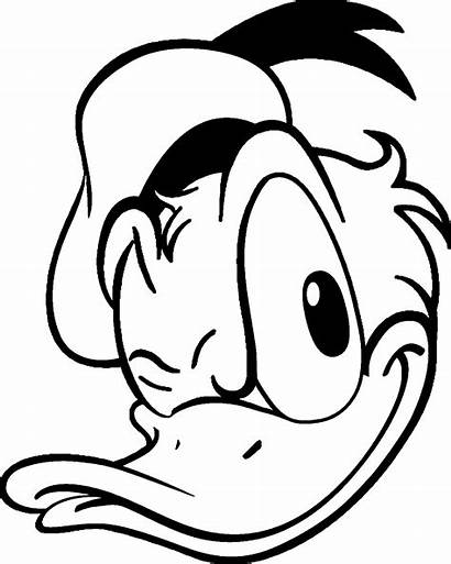 Duck Donald Coloring Face Pages Wink Drawing