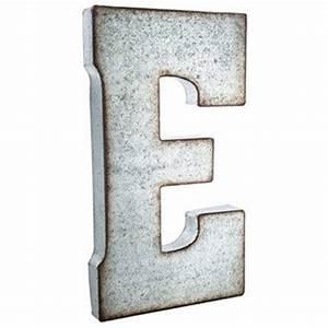 large galvanized metal letter e living room wish list With large galvanized metal letters
