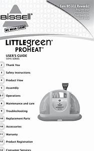 Bissell Little Green 1720 1 Instructions