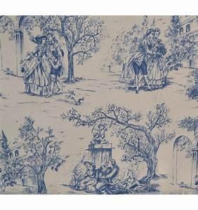Toile De Jouy : toile de jouy fabric aimee blue textiles fran ais ~ Teatrodelosmanantiales.com Idées de Décoration