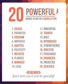power words for resumes 20 powerful words to use in a resume damn lol