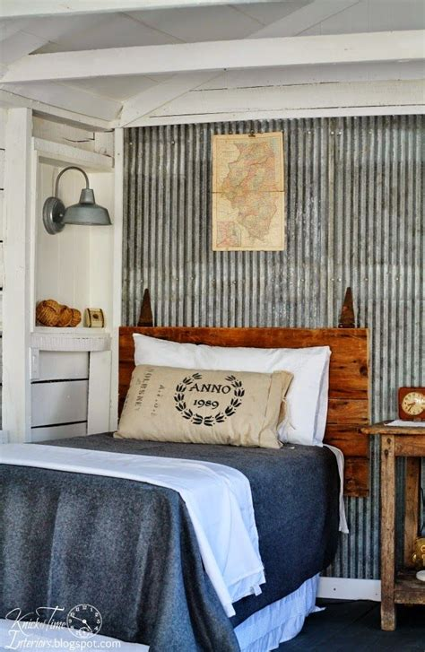 Shabby Chic Metal Headboard by Guest Cottage Room Reveal In An Old Farmhouse Shed