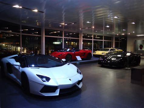 lamborghini dealership nighttime visit to lamborghini dealer in st gallen