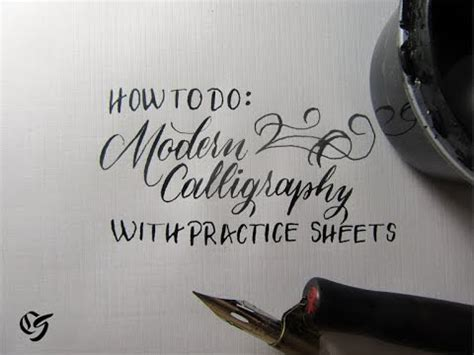 How To Learn Modern Calligraphy Tutorial (for Beginners) Youtube