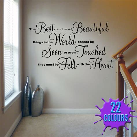 Stunning Living Room Wall Stickers by The Best And Most Beautiful Wall Decal Sticker Quote