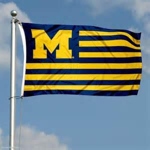Michigan Flag Wolverines University