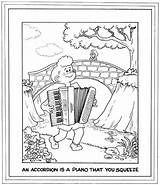 Accordion Coloring Cartoon Jokes Printing Screen Bay Area Pianist Accordionist Squeeze Mean Then sketch template