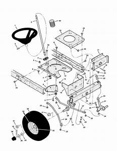 Steering Diagram  U0026 Parts List For Model 42583x9a Murray