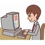 Computer Male Cartoon Clip Clipart Icon Seo