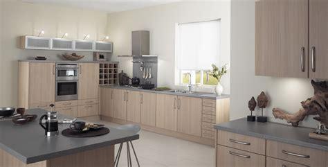 Natural Oak Gullwing Kitchen Design  Stylehomesnet